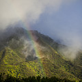 A Rainbow Shines Over The Rugged Print by Taylor S. Kennedy
