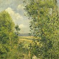 A Rest in the Meadow Print by Camille Pissarro