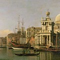 A view of the Dogana and Santa Maria della Salute Print by Antonio Canaletto