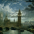 A View of Westminster Abbey and the Houses of Parliament Poster by John MacVicar Anderson