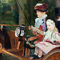 A woman and child in the driving seat Poster by Mary Stevenson Cassatt