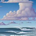 Abeautiful day at the beach Print by Tim Foley