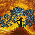 Abstract Art Original Landscape Painting DREAMING IN COLOR by MADARTMADART Print by Megan Duncanson