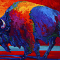 Abstract Bison Poster by Marion Rose
