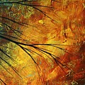 Abstract Landscape Art PASSING BEAUTY 5 of 5 Poster by Megan Duncanson