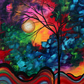 Abstract Landscape Bold Colorful Painting Poster by Megan Duncanson