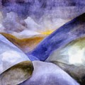 Abstract Mountain Landscape Poster by Michelle Calkins