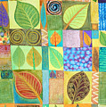Abstract with Leaves Print by Jennifer Baird