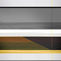 Abstract Yellow and Grey  Poster by Naxart Studio
