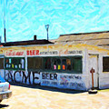 Acme Beer At The Old Lunch Shack At China Camp Print by Wingsdomain Art and Photography