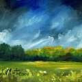 After Spring Rain Print by Linda L Martin