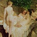 After the Bath Print by Karoly Lotz