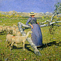 Afternoon in the Alps Print by Giovanni Segantini