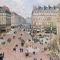 Afternoon Sun in Winter Poster by Camille Pissarro