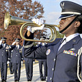 Airman Plays Taps During The Veterans Print by Stocktrek Images