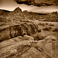Alabama Hills California B W Print by Steve Gadomski