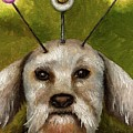 Alien Dog Poster by Leah Saulnier The Painting Maniac