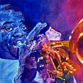 Ambassador Of Jazz - Louis Armstrong Poster by David Lloyd Glover