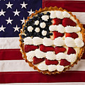 American pie on American flagAmerican pie on American flagAmer Poster by Garry Gay