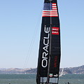 America's Cup in San Francisco - Oracle Team USA 4 - 5D18225 Poster by Wingsdomain Art and Photography