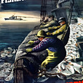 America's Fishing Fleet And Men  Poster by War Is Hell Store