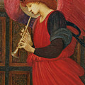 An Angel Playing a Flageolet Poster by Sir Edward Burne-Jones