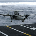 An E-2c Hawkeye Lands Aboard Poster by Stocktrek Images
