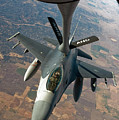 An F-16 Fighting Falcon Receiving Fuel Print by Stocktrek Images