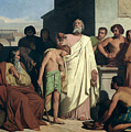 Annointing of David by Saul Poster by Felix-Joseph Barrias