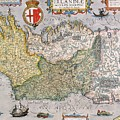 Antique Map of Ireland Print by  English School