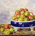 Apples in a Dish Print by  Pierre Auguste Renoir