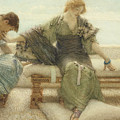 Ask me no more....for at a touch I yield Print by Sir Lawrence Alma-Tadema