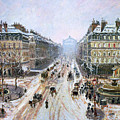 Avenue de l'Opera - Effect of Snow Poster by Camille Pissarro