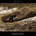 Backlight Surfing - Maui Hawaii Posters Series Print by Denis Dore