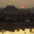 Baghdad And The Tigris River At Sunset Print by Lynn Abercrombie