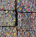 Bales of Aluminum Cans Poster by David Buffington