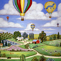 Ballooning in the Country One Print by Linda Mears