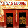 Bar San Miguel Poster by Olden Mexico