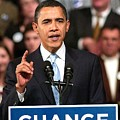 Barack Obama On Stage For Barack Obama Poster by Everett