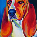 Basset Hound - Maple Print by Alicia VanNoy Call