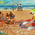 Beach in August Poster by Betty Pieper