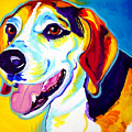 Beagle - Lou Print by Alicia VanNoy Call