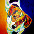 Beagle - Scooter Print by Alicia VanNoy Call