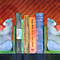 Bear Bookends Print by Arline Wagner