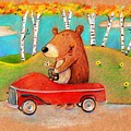 Bear out for a drive Poster by Scott Nelson
