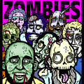 Bearded Zombies Group Photo Print by Christopher Capozzi