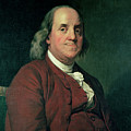 Benjamin Franklin Print by Joseph Wright of Derby