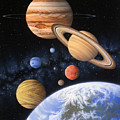 Beyond the Home Planet Print by Lynette Cook