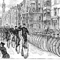 BICYCLIST MEETING, 1881 Poster by Granger