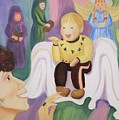 Billy as Baby Jesus Poster by Suzanne  Marie Leclair